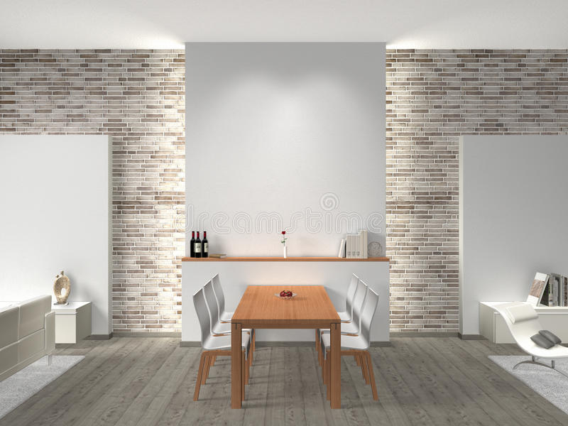 Download Dining room interior stock illustration. Image of architecture - 34720591