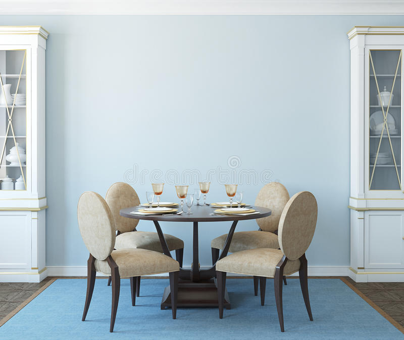 Dining-room interior. stock illustration