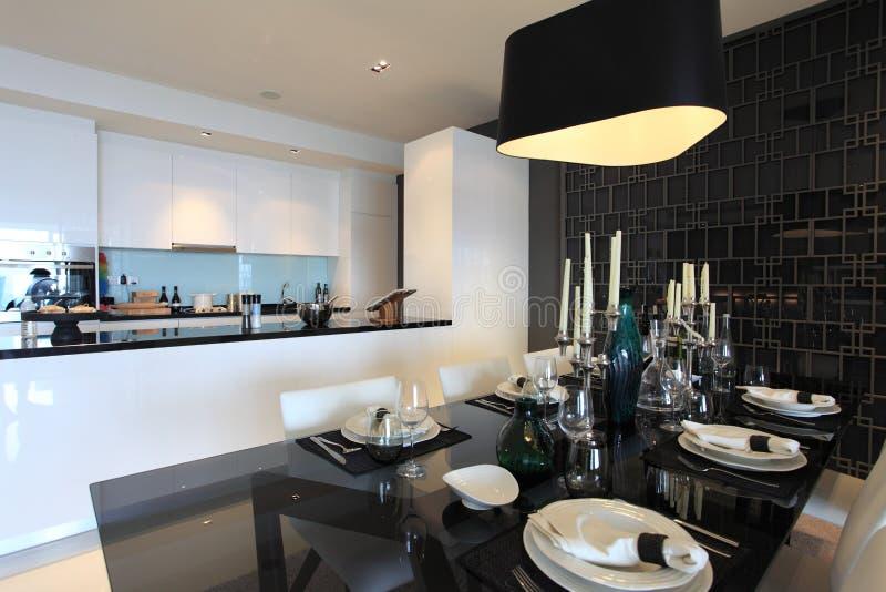 Dining room in Luxury Condo in Kuala Lumpur stock image