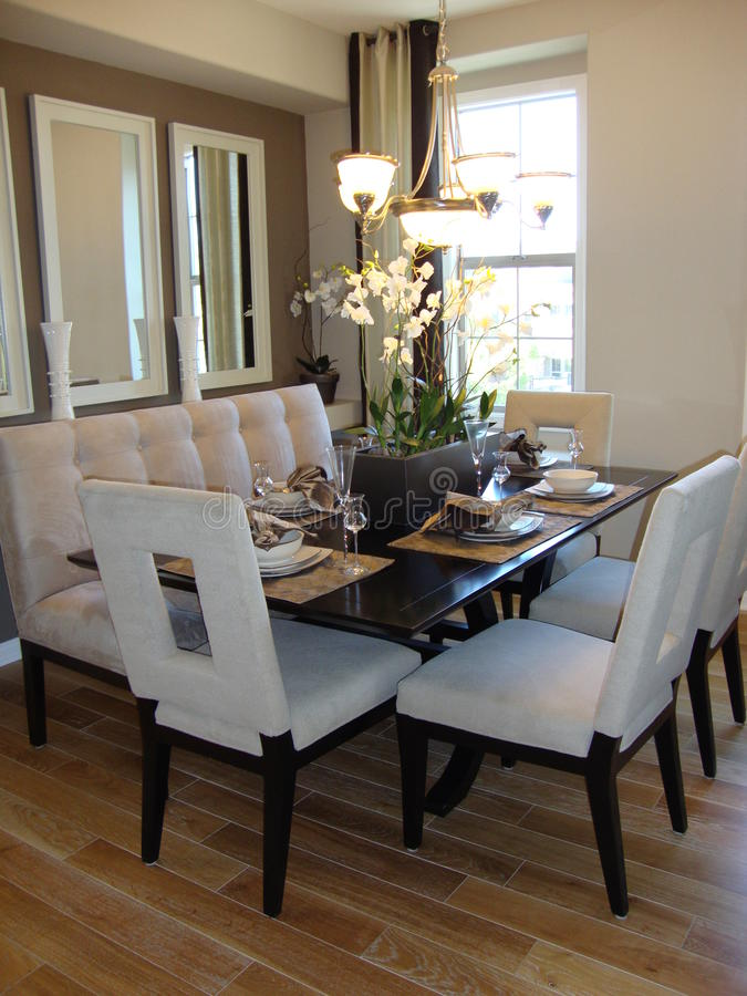Dining Room Modern royalty free stock image
