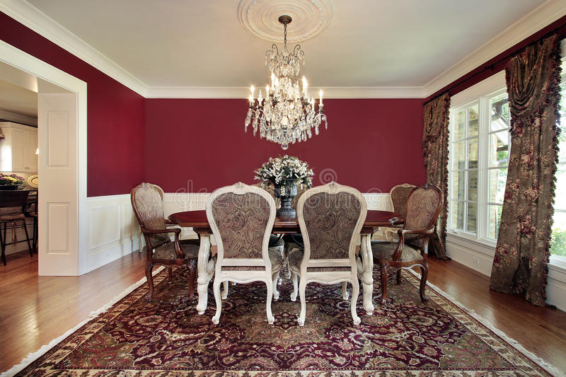 Download Dining Room With Red Walls Royalty Free Stock Photo   Image:  12627195 Part 43