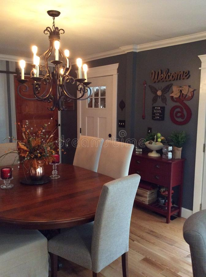 Dining Room Remodel royalty free stock photos