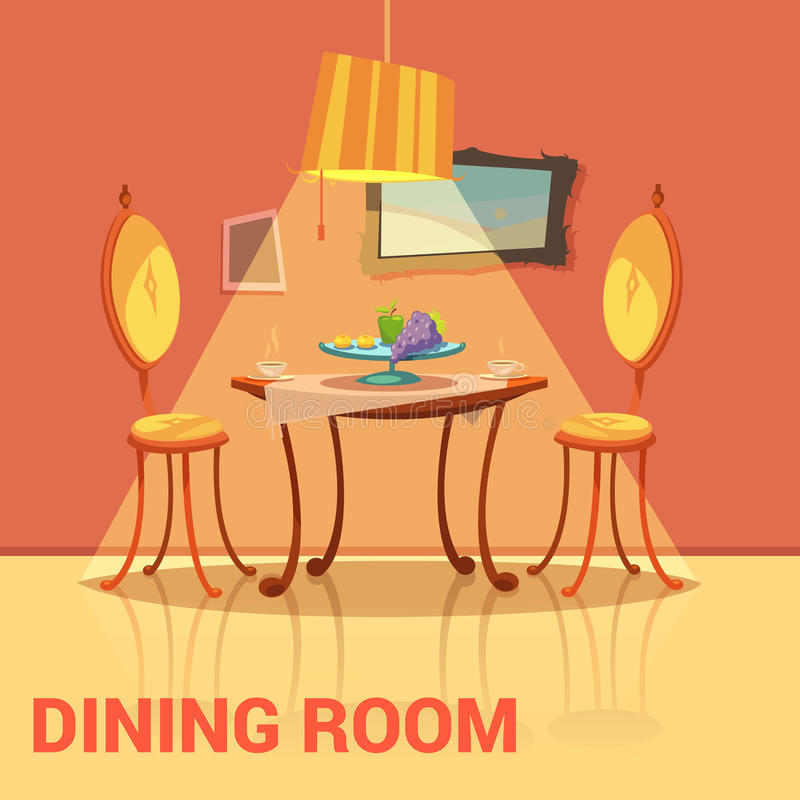 dining room retro design stock vector illustration of cover 67642831. Black Bedroom Furniture Sets. Home Design Ideas