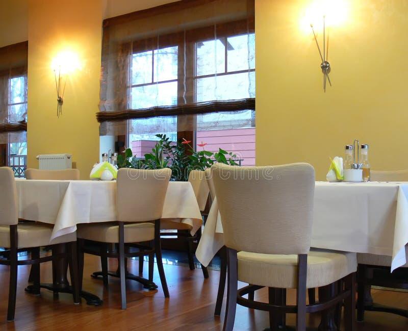 Dining room setting stock photo