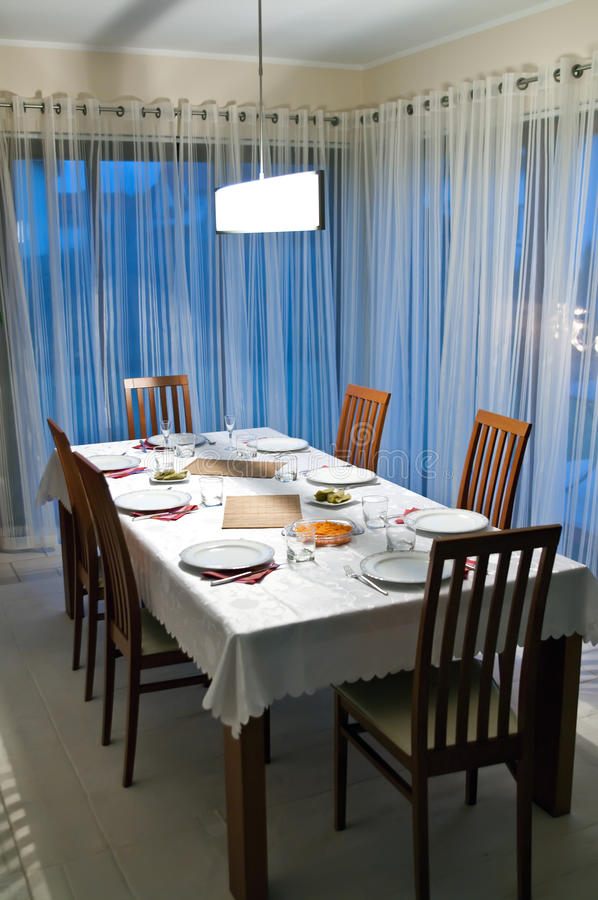 Download Dining room table stock image. Image of stone, architecture - 12306339