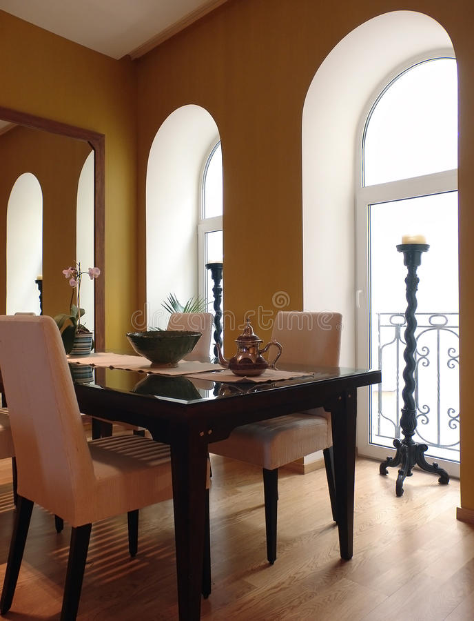 Download Dining room stock photo. Image of reflection, candlestick - 39499312