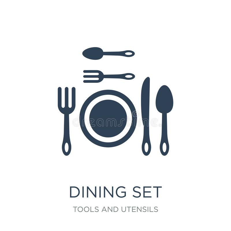 Dining set icon in trendy design style. dining set icon isolated on white background. dining set vector icon simple and modern. Flat symbol for web site, mobile vector illustration
