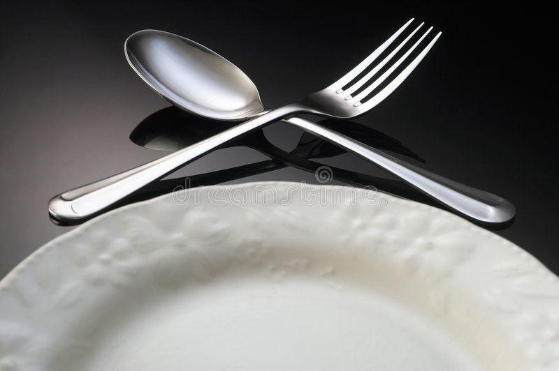 Dining setting stock image