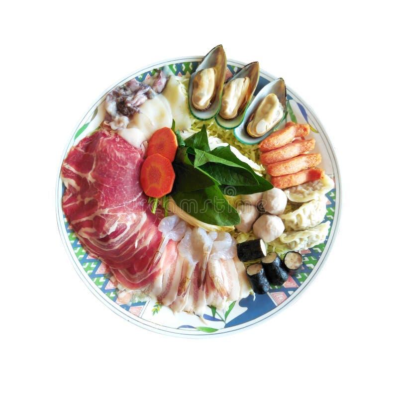 Dining shabu and sukiyaki in hot pot at japanese restaurant stock photos