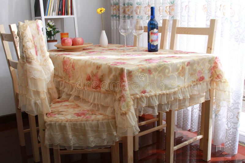 Download Dining table stock image. Image of home, furniture, residential - 18373133