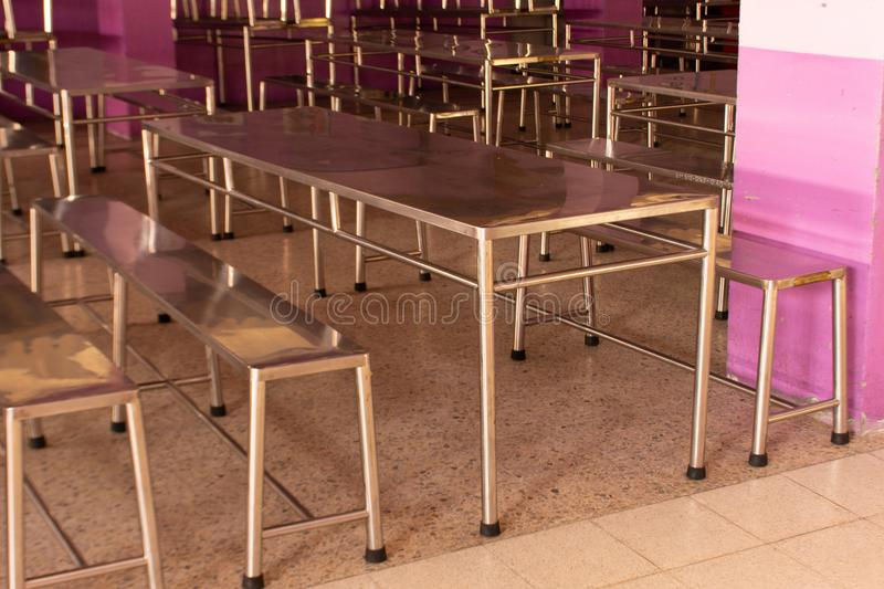 Dining table child elementary school. stock photography