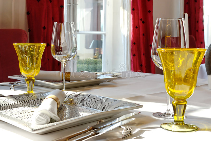 Dining table set royalty free stock photography