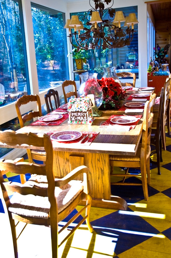 Dining Table/Setting/Vertical stock photography