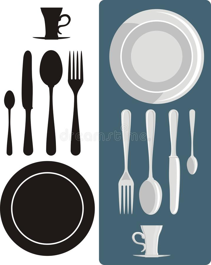 Download Dining utensils stock vector. Illustration of silverware - 13745386