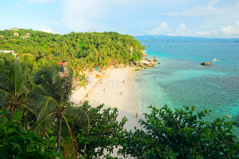 Diniwid plaża Boracay wyspa, Filipiny obraz royalty free