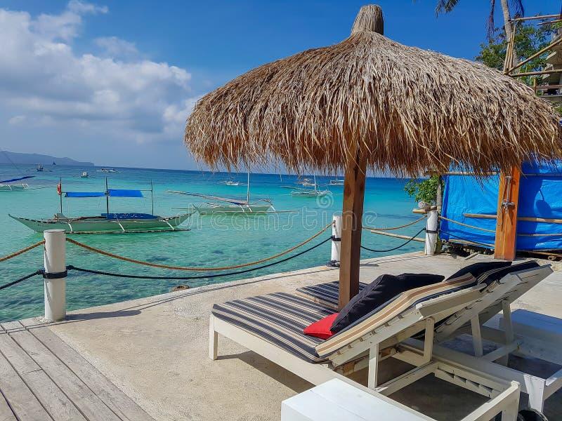 Diniwid plaży Boracay wyspa Philippines fotografia stock
