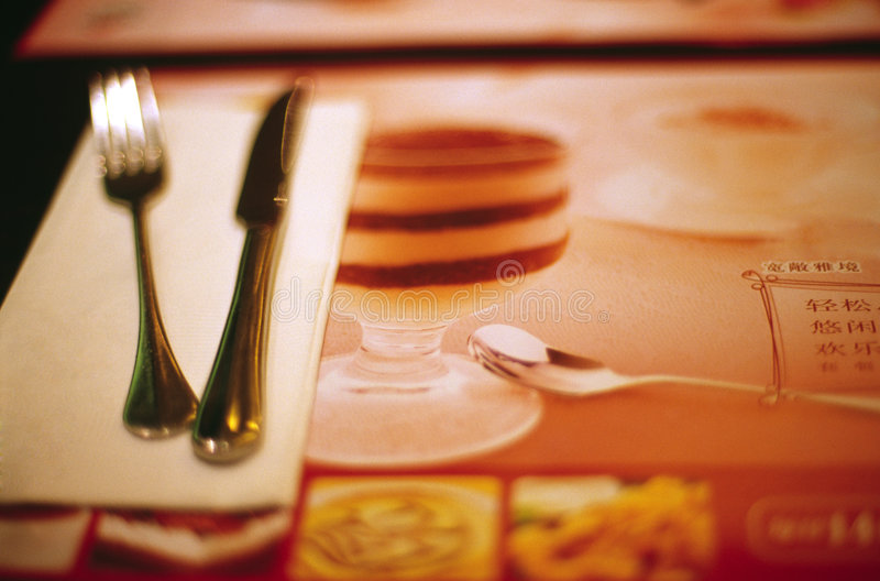 Download Dinner stock image. Image of view, drink, health, fork - 4892087