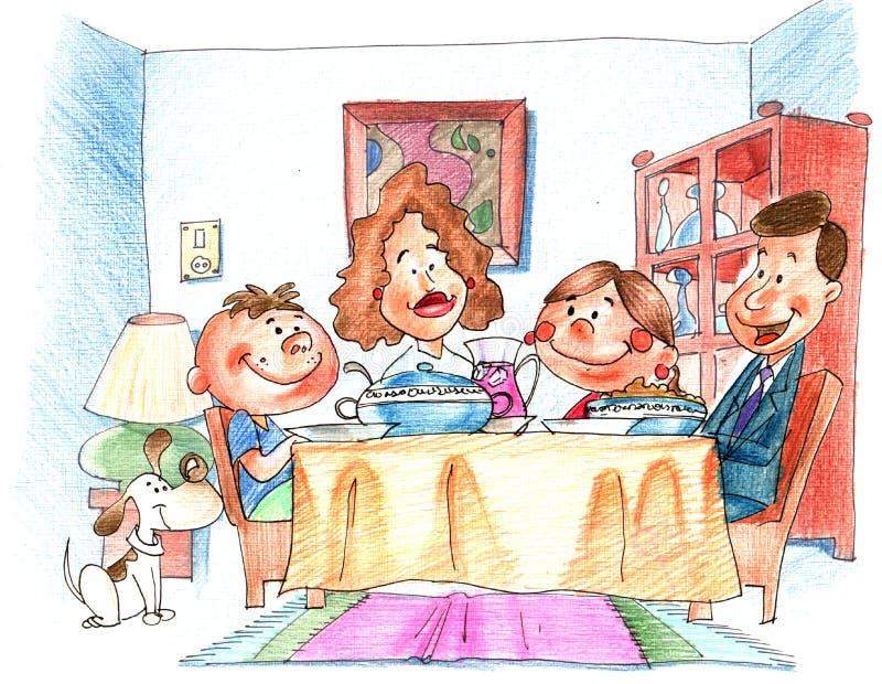 Download The dinner stock illustration. Illustration of house, dinner - 633675
