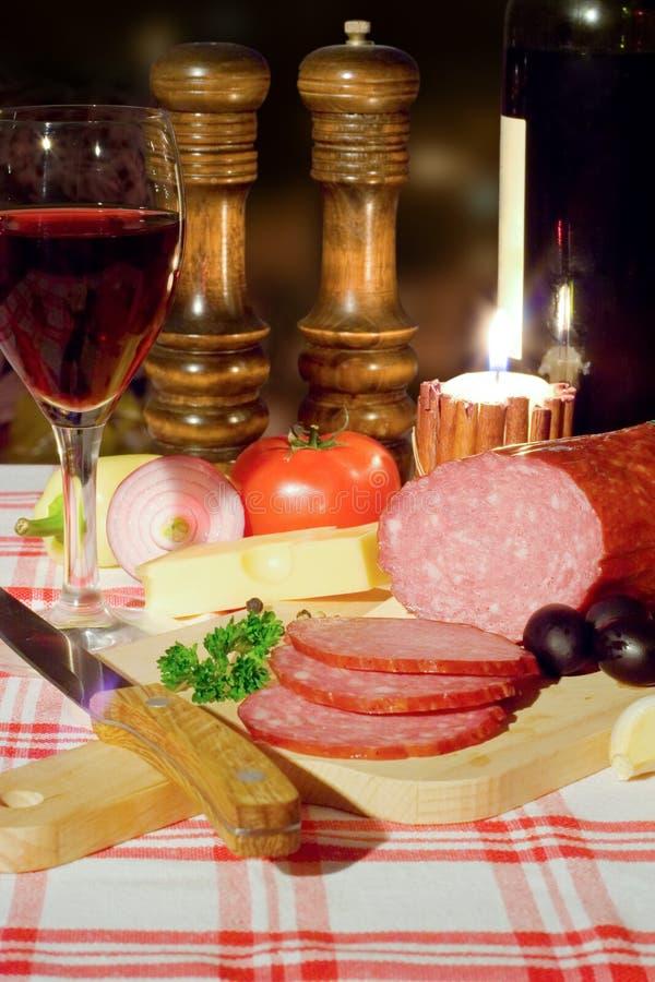 Download Dinner closeup stock image. Image of wine, food, salt - 26119057