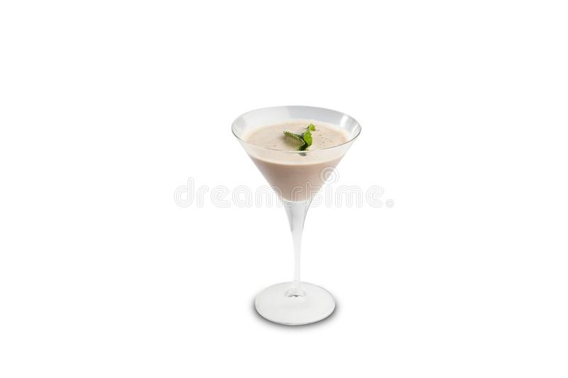 After dinner cocktail isolated on a white background royalty free stock photography