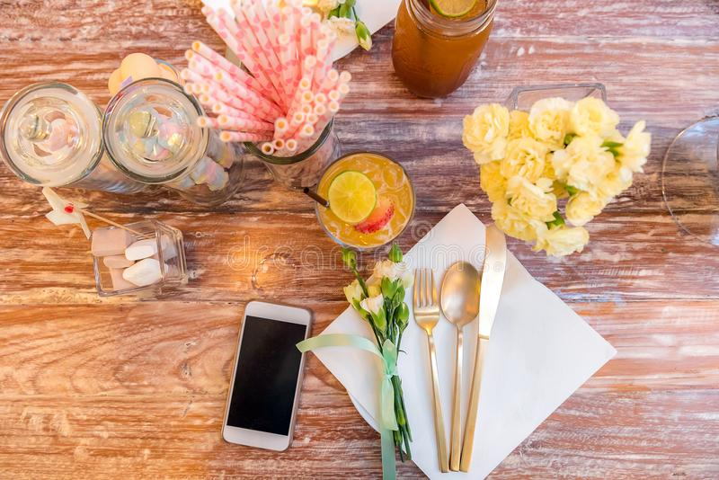 Party dining table royalty free stock photos