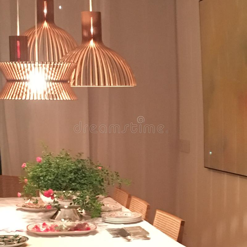 Dinner with friends. Dinner at friends house Rio de Janeiro Brazil royalty free stock photos