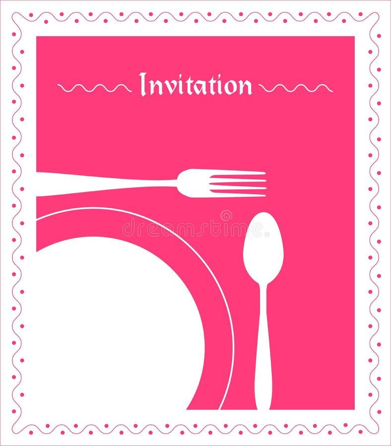 Free Dinner Invitation Royalty Free Stock Photography - 23548057