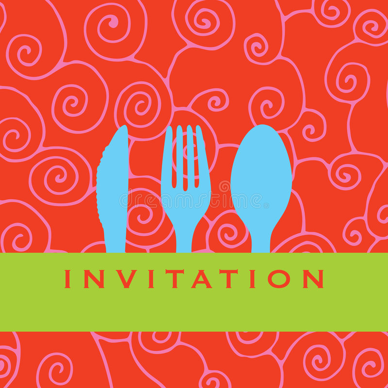 Download Dinner invitation stock vector. Image of giftcard, logo - 4424962