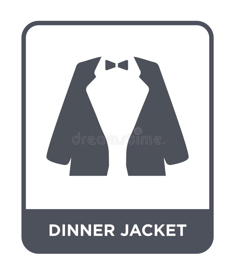 dinner jacket icon in trendy design style. dinner jacket icon isolated on white background. dinner jacket vector icon simple and royalty free illustration