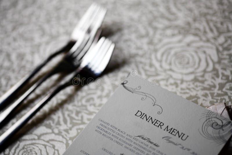 Dinner Menu Stock Photos
