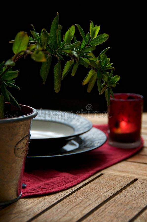Download A dinner outside stock image. Image of chair, evening - 8995803