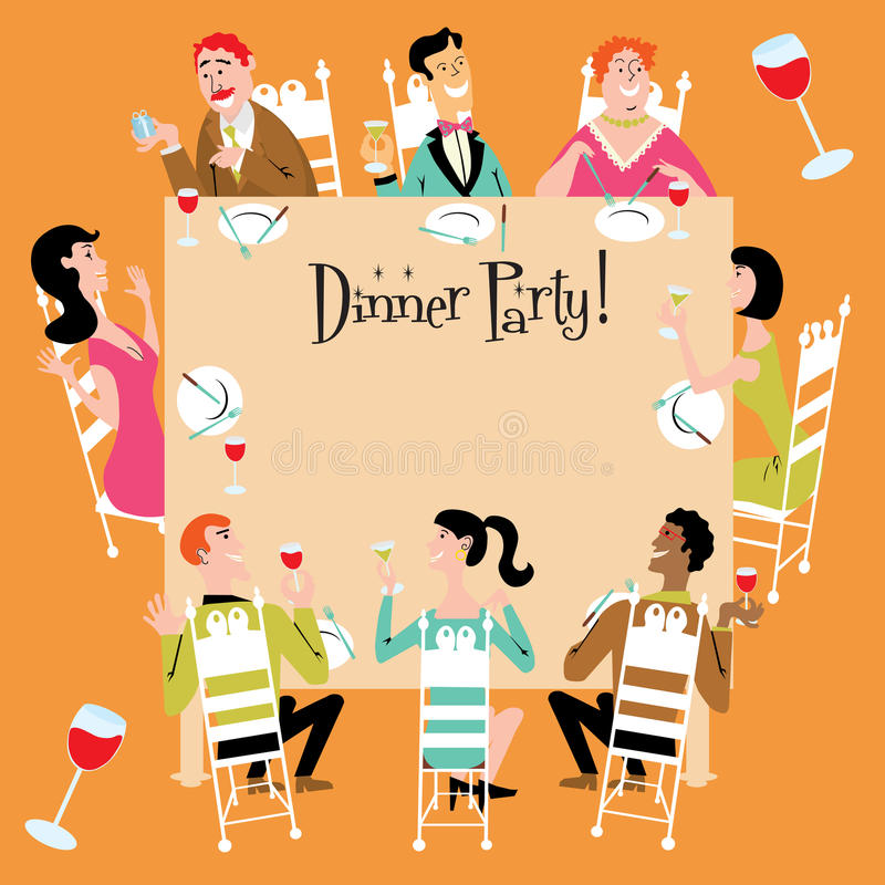 Dinner Party vector illustration