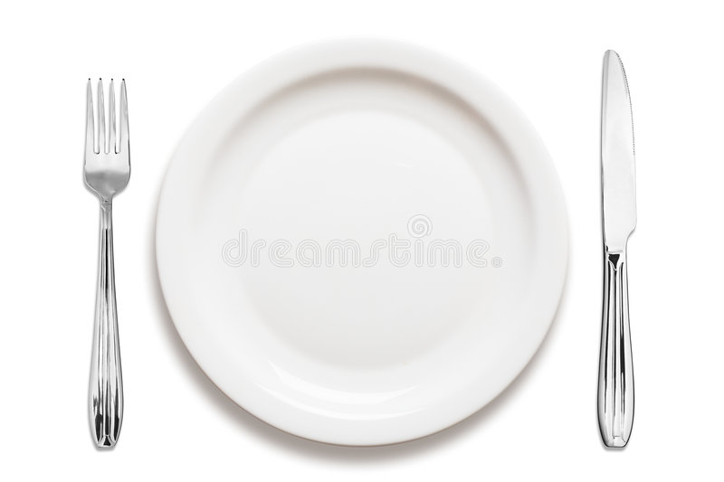 Download Dinner plate arrangement stock photo. Image of fork, white - 2239588