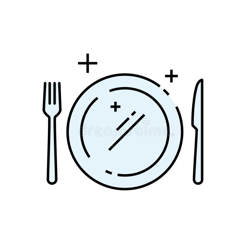 Free Dinner Plate Line Icon Stock Photos - 156889223