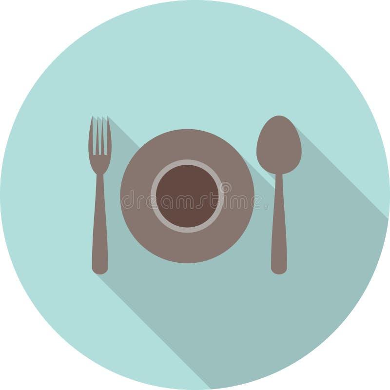 Dinner Plate royalty free illustration