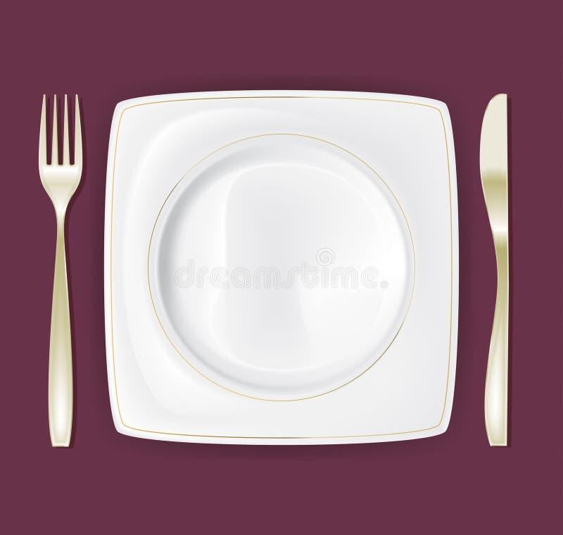 Dinner Plate Set 3 vector illustration