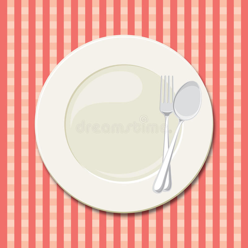 Download Dinner plate stock illustration. Image of checker, empty - 34076836