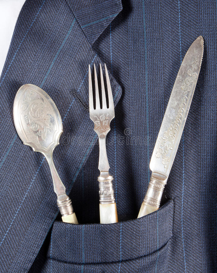 Dinner in a pocket royalty free stock photos