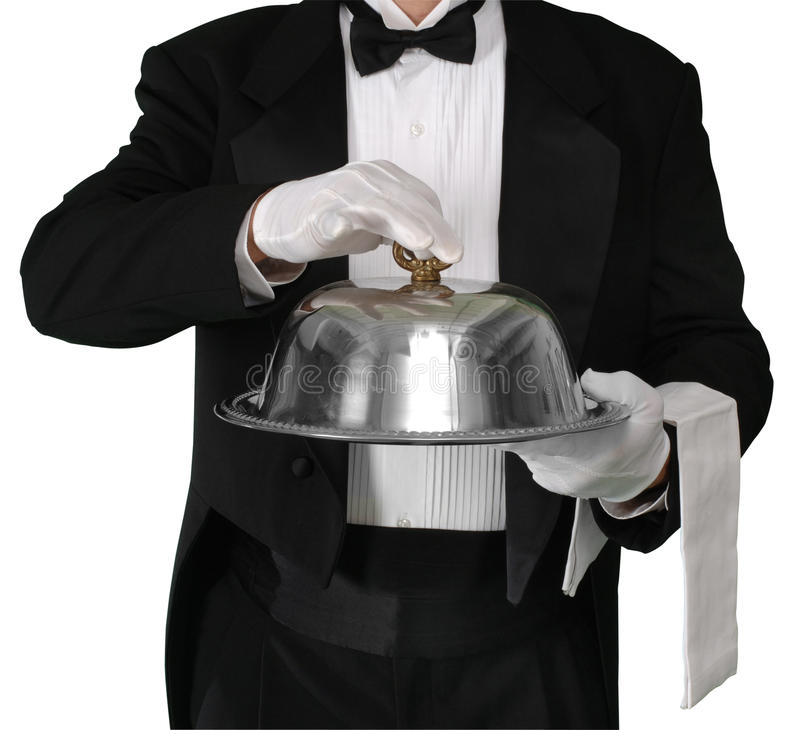 Download Dinner is Served stock photo. Image of path, gloves, waiter - 11185454