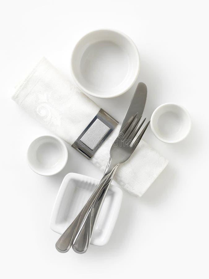 Download Dinner set stock photo. Image of knife, meal, serviette - 27600804