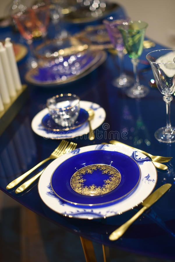 Dinner Set Up royalty free stock photography