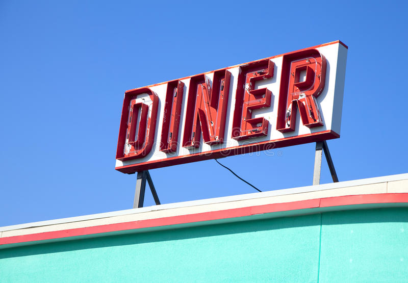 Download Dinner Sign stock photo. Image of memorabilia, blue, front - 20074270