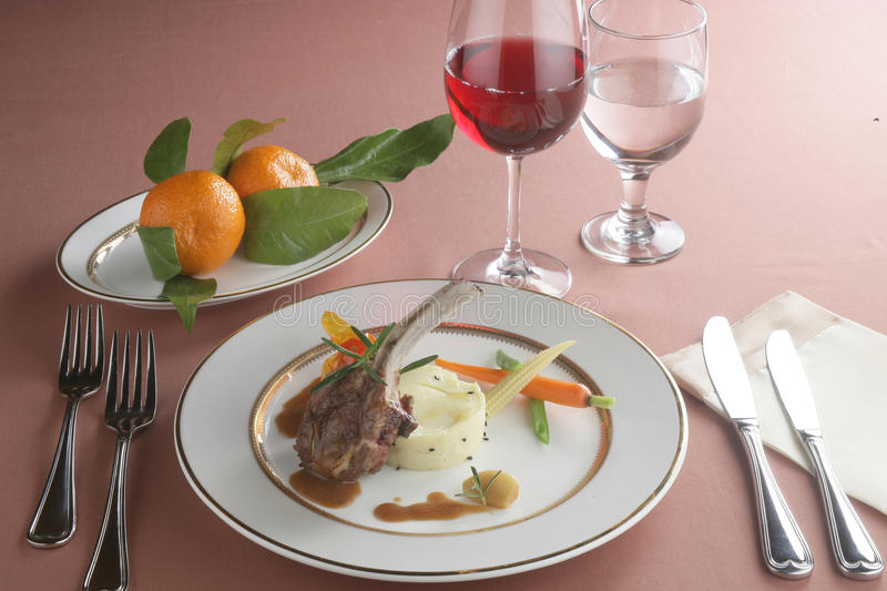 Download Dinner with stake stock photo. Image of eastern, dinner - 23395116