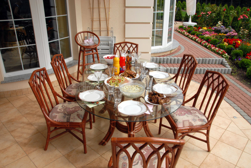 Dinner table royalty free stock photography