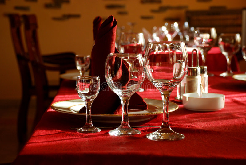 Download Dinner table stock photo. Image of house, alcohol, community - 4989128