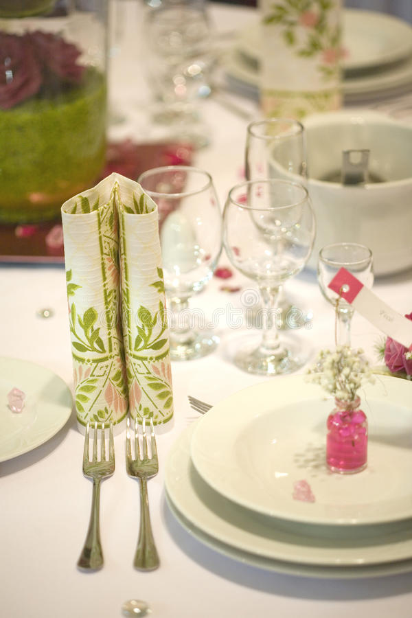 Download Dinner table with flowers stock image. Image of dinner - 14266667