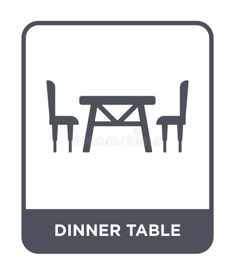 dinner table icon in trendy design style. dinner table icon isolated on white background. dinner table vector icon simple and vector illustration
