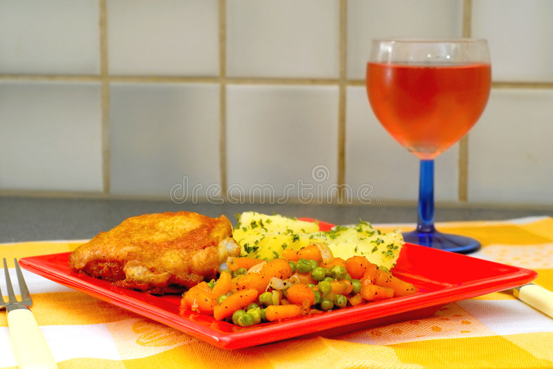 Download Dinner time stock photo. Image of fried, carrot, plate - 2297058
