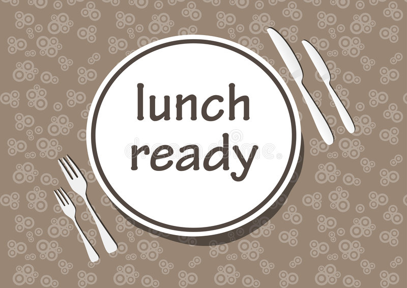 Dinner time. Vector illustration (lunch ready royalty free illustration