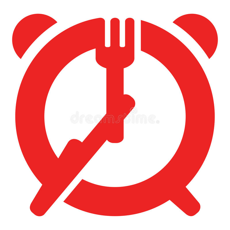 Download Dinner time sign stock vector. Illustration of hand, fast - 27014520